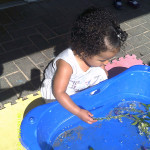 Child with water play