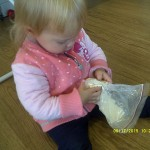 Child with sensory bag