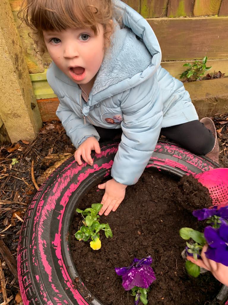 Planting- preschool